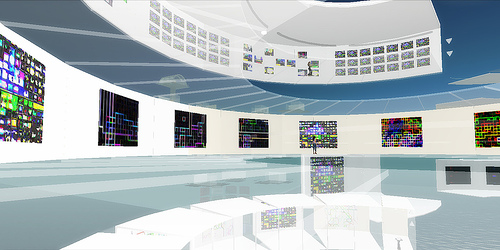 3D virtual world in Second Life cyberspace.