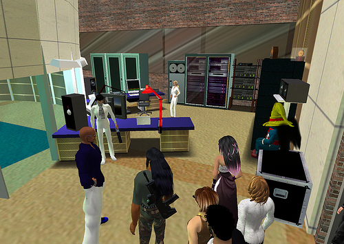 Second Life 3d virtual reality. Public radio show by 'Infinite Mind' (pic: Flickr.com)