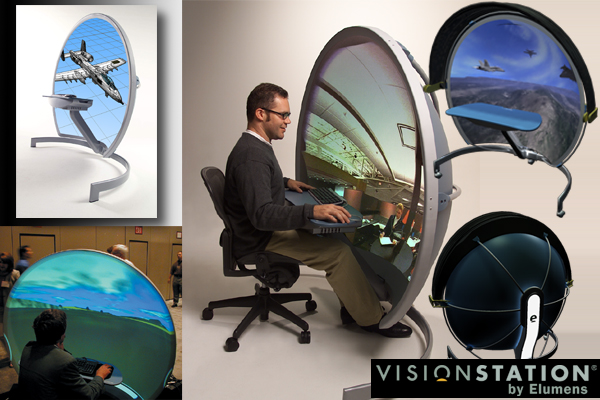 Visionstation 3d Screen by Elumens