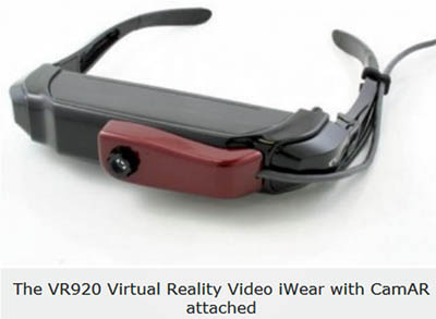 3D Visor by Vuzix: 920 iWear for Virtual Reality.